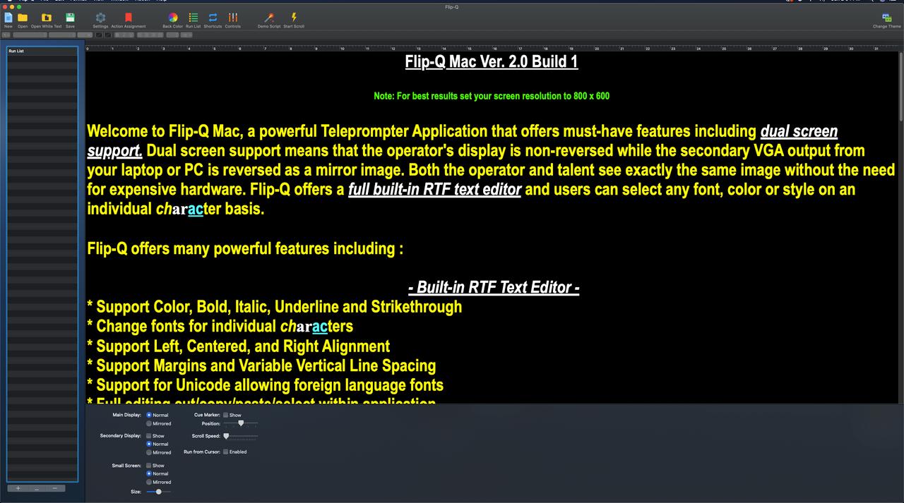 Flip-Q-Pro Software GUI UI/UX