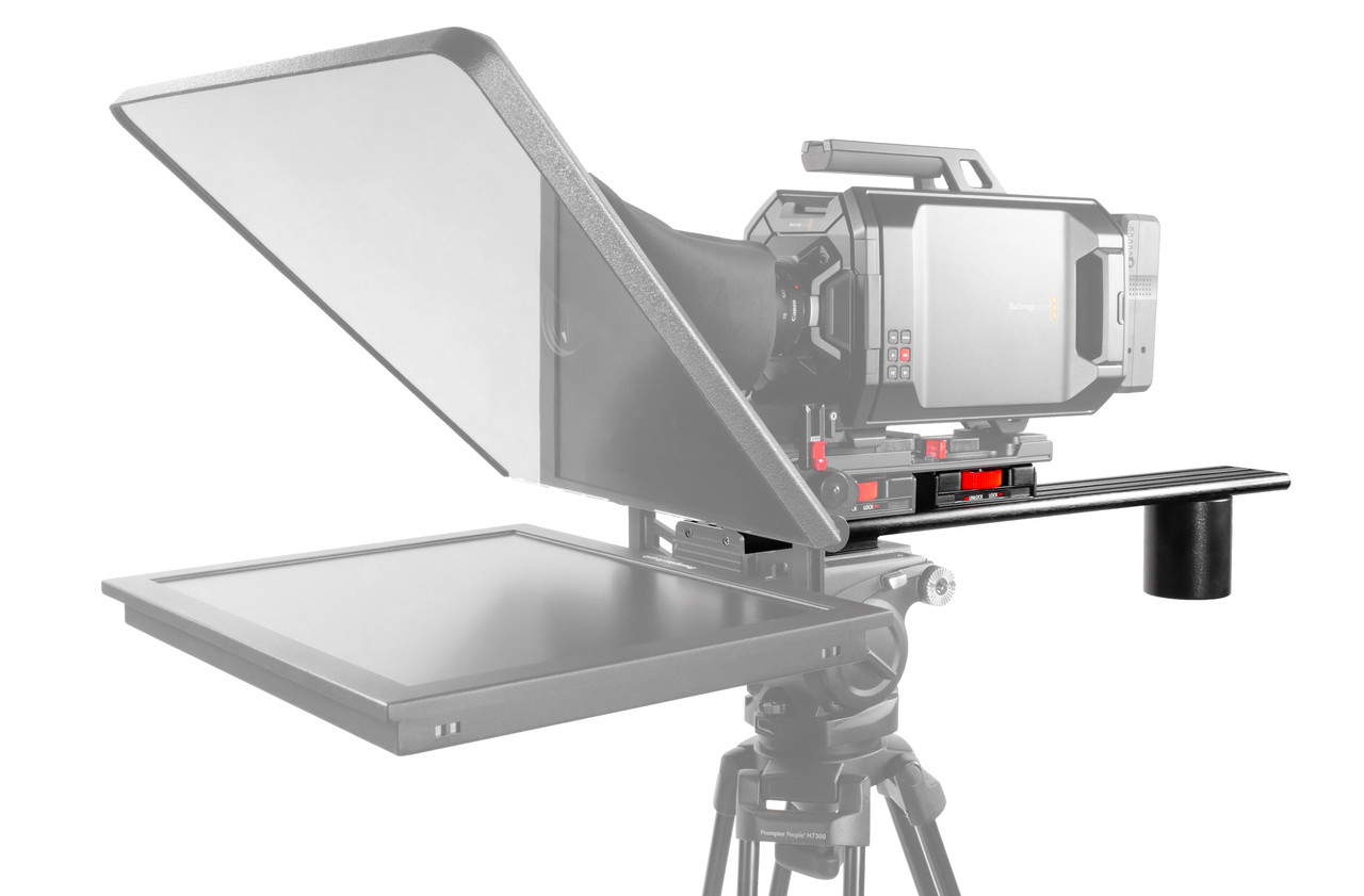 Plus Model Long Sled Add-on for plus models with LowBoy, Tripod Adapter Plate and Back Weight - on Camera