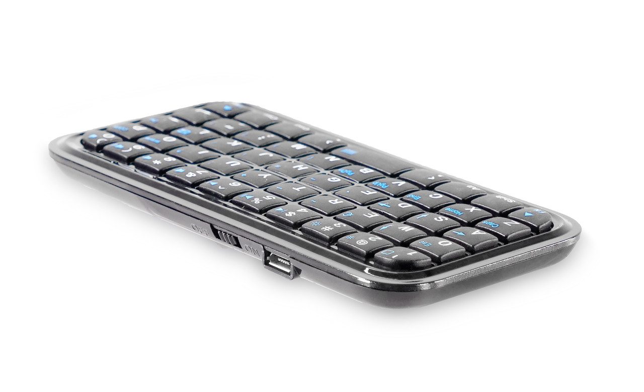 BlueTooth KeyBoard  - Included for Remote Control via BlueTooth inputs  - Prompter Pal