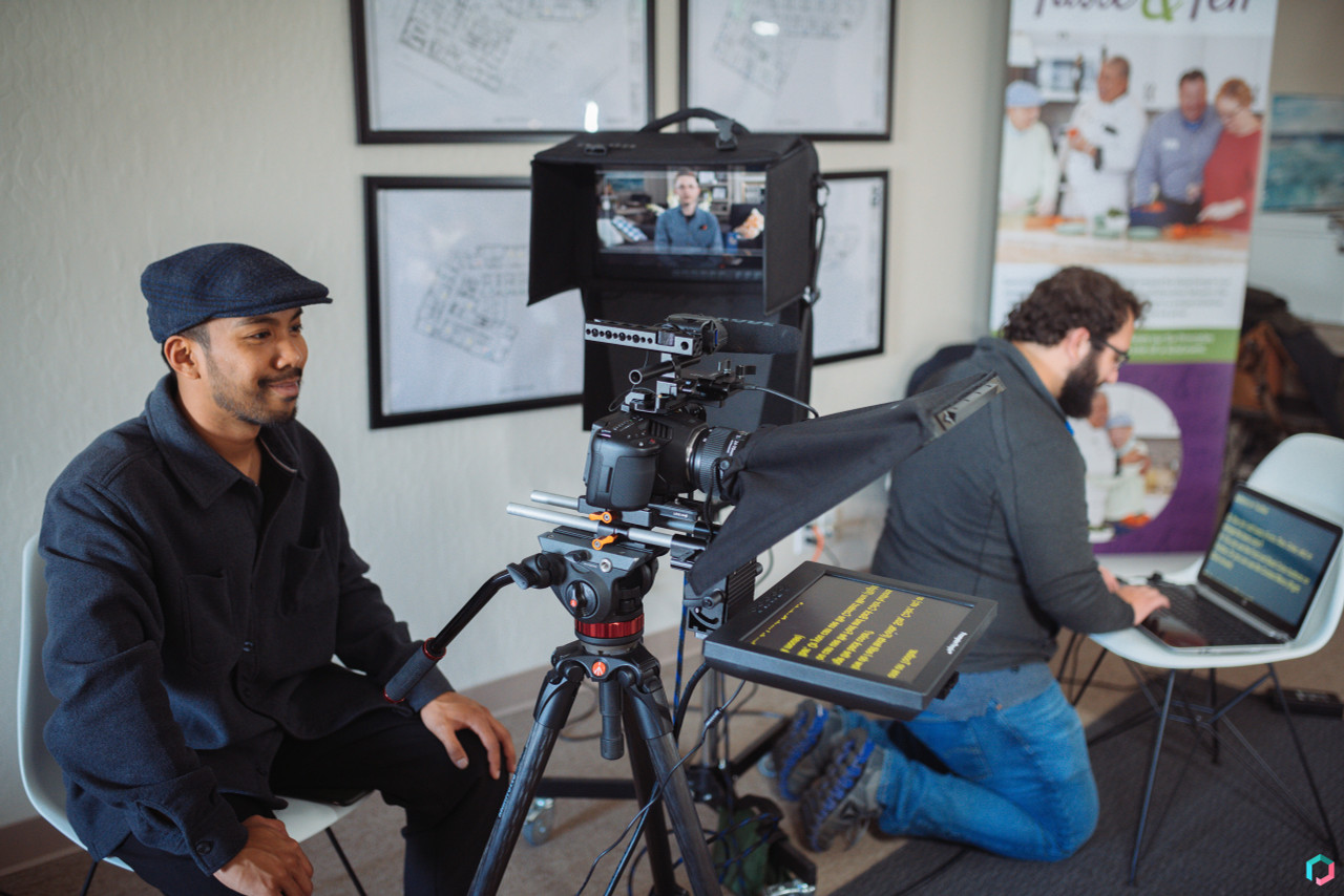 Prompter Pal 15mm Railmount Kit on Set with Porygon Studios