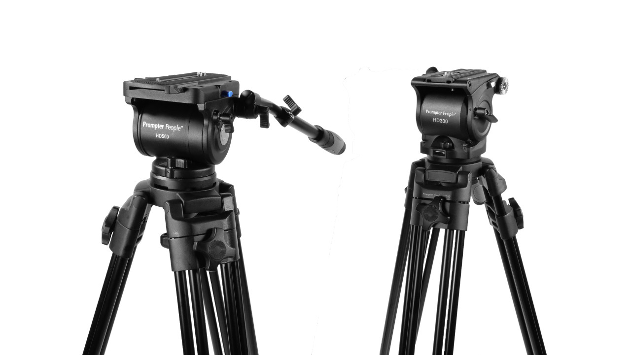 PrompterPeople Heavy Duty Tripod HD-500 50 LB (HD500) vs 30 LB (HD300) Tripod - SoftBag