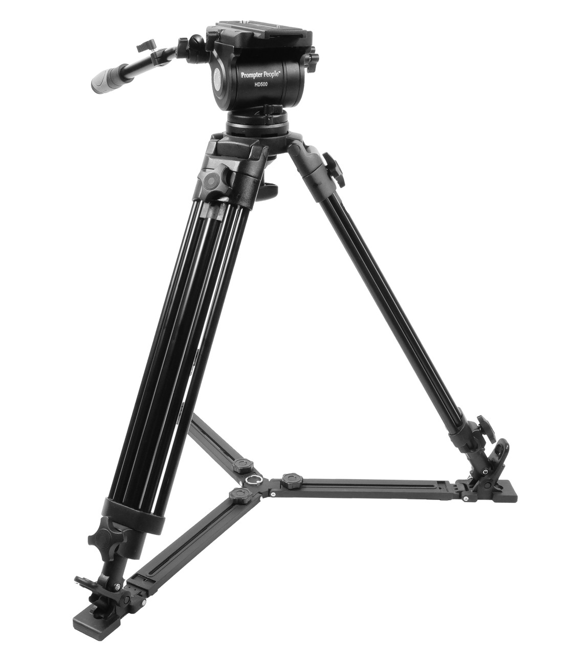PrompterPeople Heavy Duty Tripod HD-500 50 LB Tripod Lowered