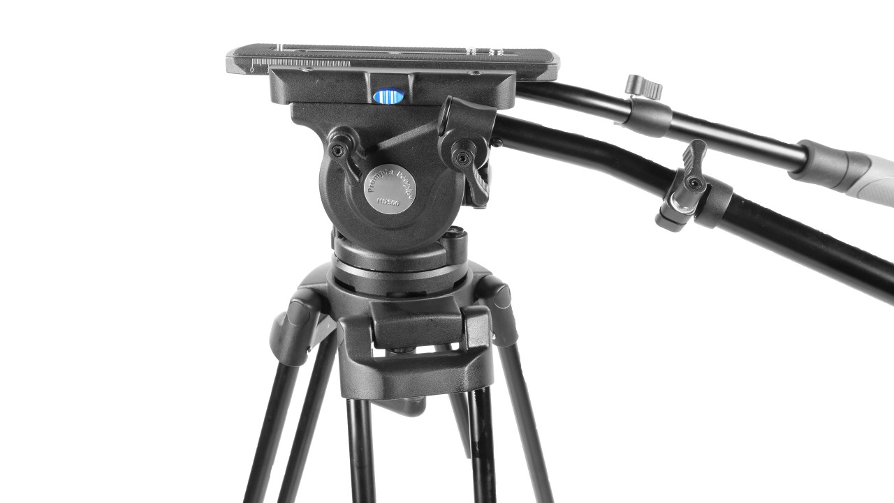 PrompterPeople Heavy Duty Tripod HD-500 50 LB Tripod HEAD Side