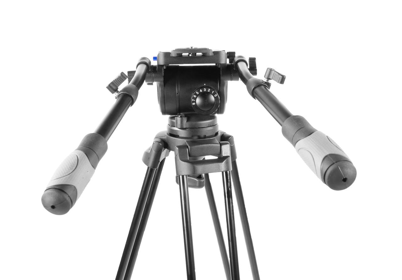 PrompterPeople Heavy Duty Tripod HD-500 50 LB Tripod  HEAD Balance adjustment