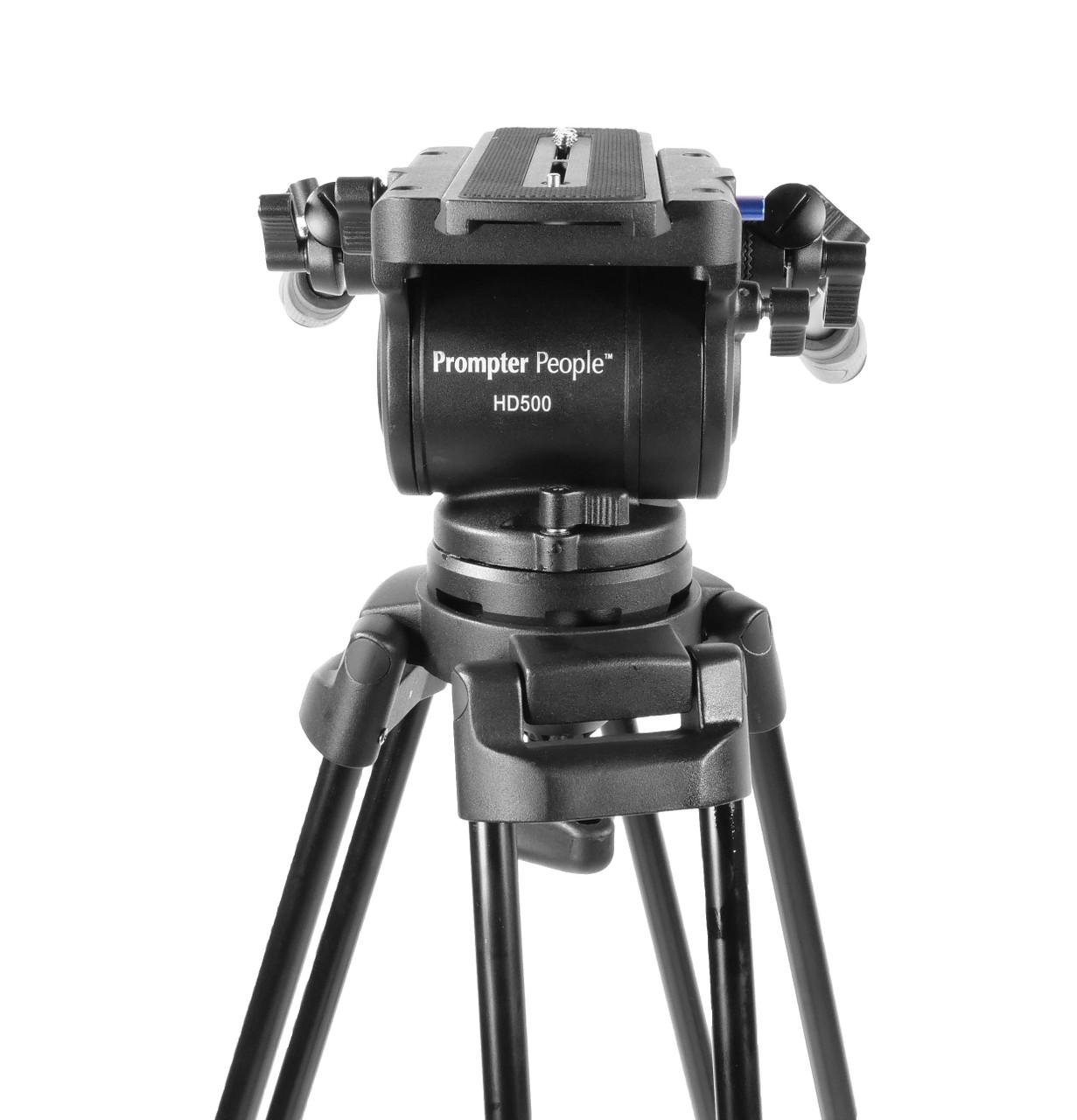 PrompterPeople Heavy Duty Tripod HD-500 50 LB Tripod HEAD Face