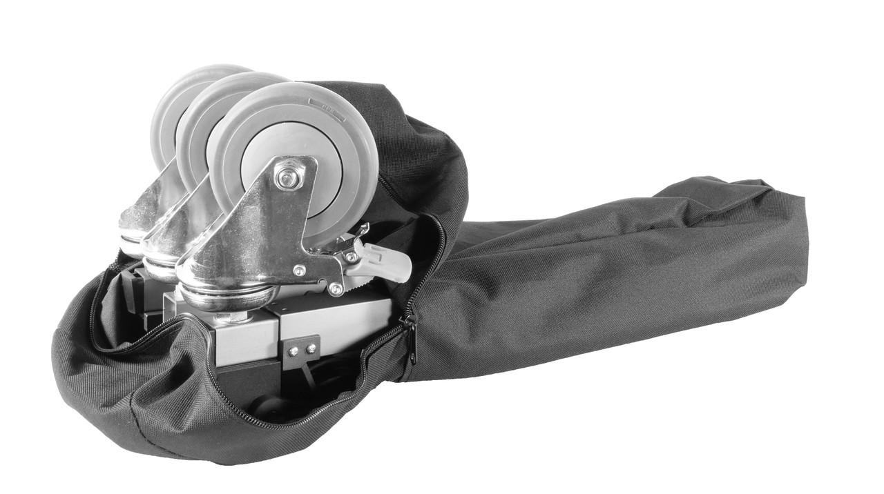 PrompterPeople Heavy Duty Tripod HD-500 50 LB Tripod  - with Casters (Dolly) Bag Opened