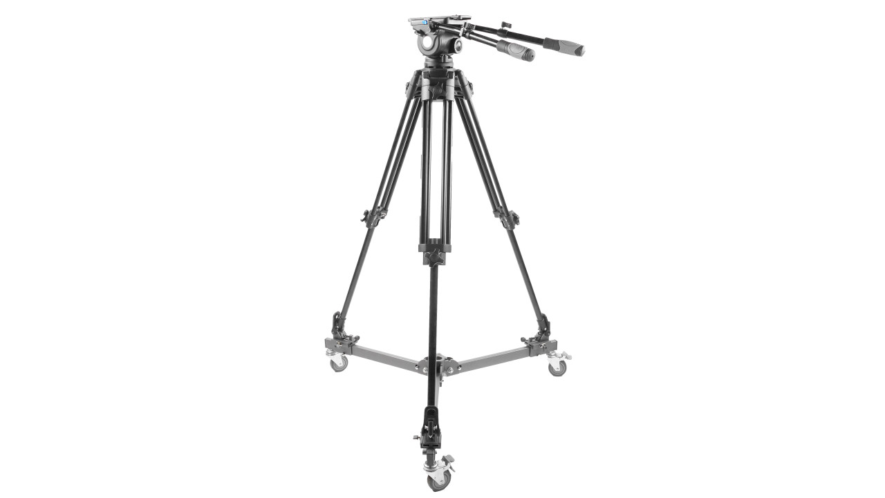PrompterPeople Heavy Duty Tripod HD-500 50 LB Tripod  - with Casters (Dolly)