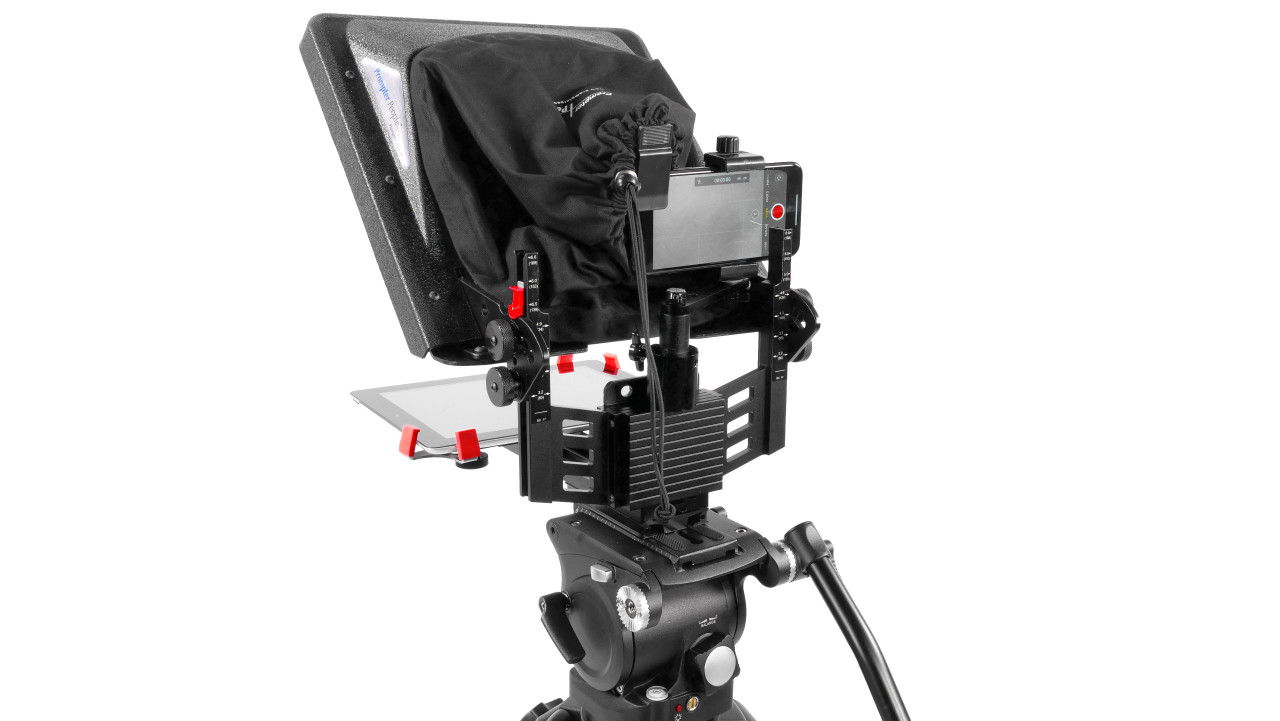 ProLine Plus Teleprompter Phone Adapter Back Angled - A