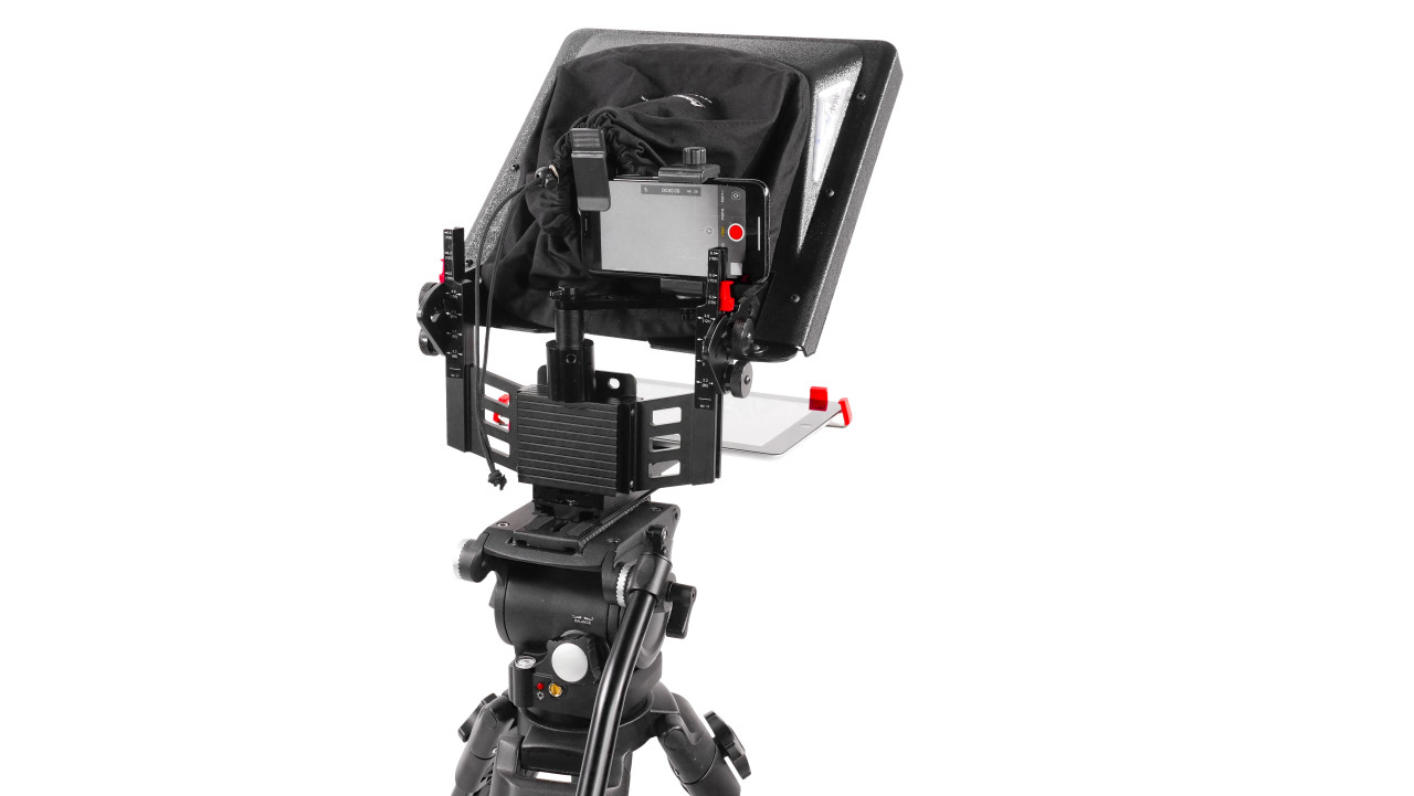 ProLine Plus Teleprompter Phone Adapter Back Angled - B