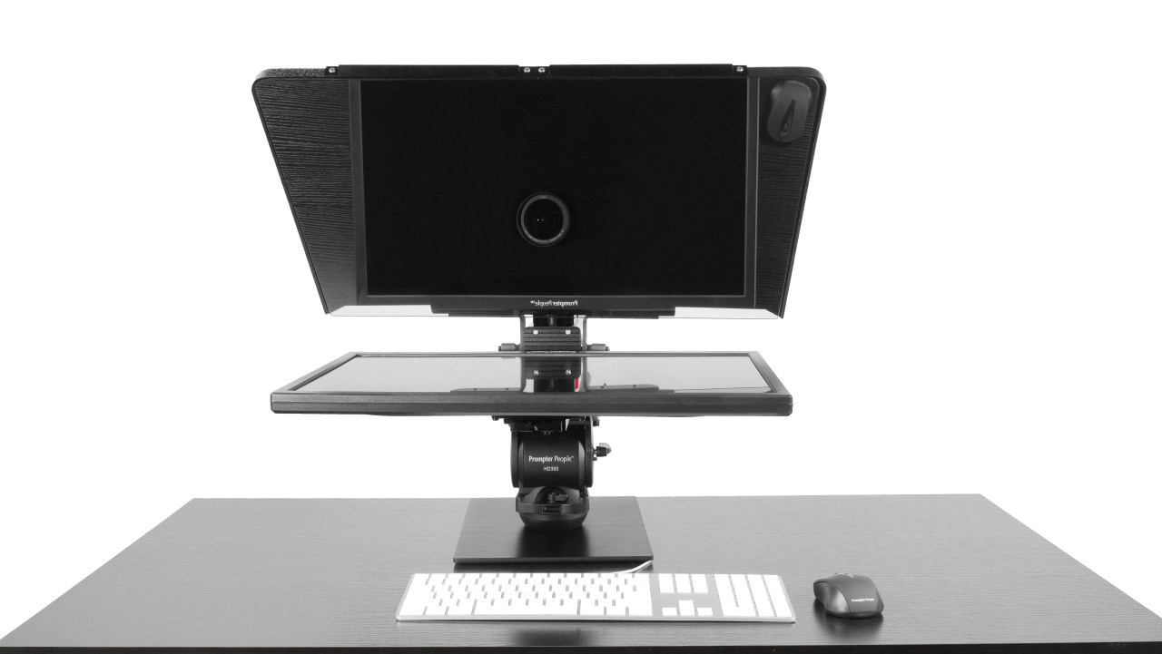 Flex Plus Desktop Teleprompter for Distance Learning, Social Distancing Interviews, Work-At-Home Professionals, Live Streams in home Office, Remote Video Sales and Support - Face