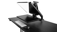 "Desktop Arm Model Teleprompter Flex Plus 24"" Screen PrompterPeople Setup Side - Free Fly Desktop Office, work from home Teleprompter"
