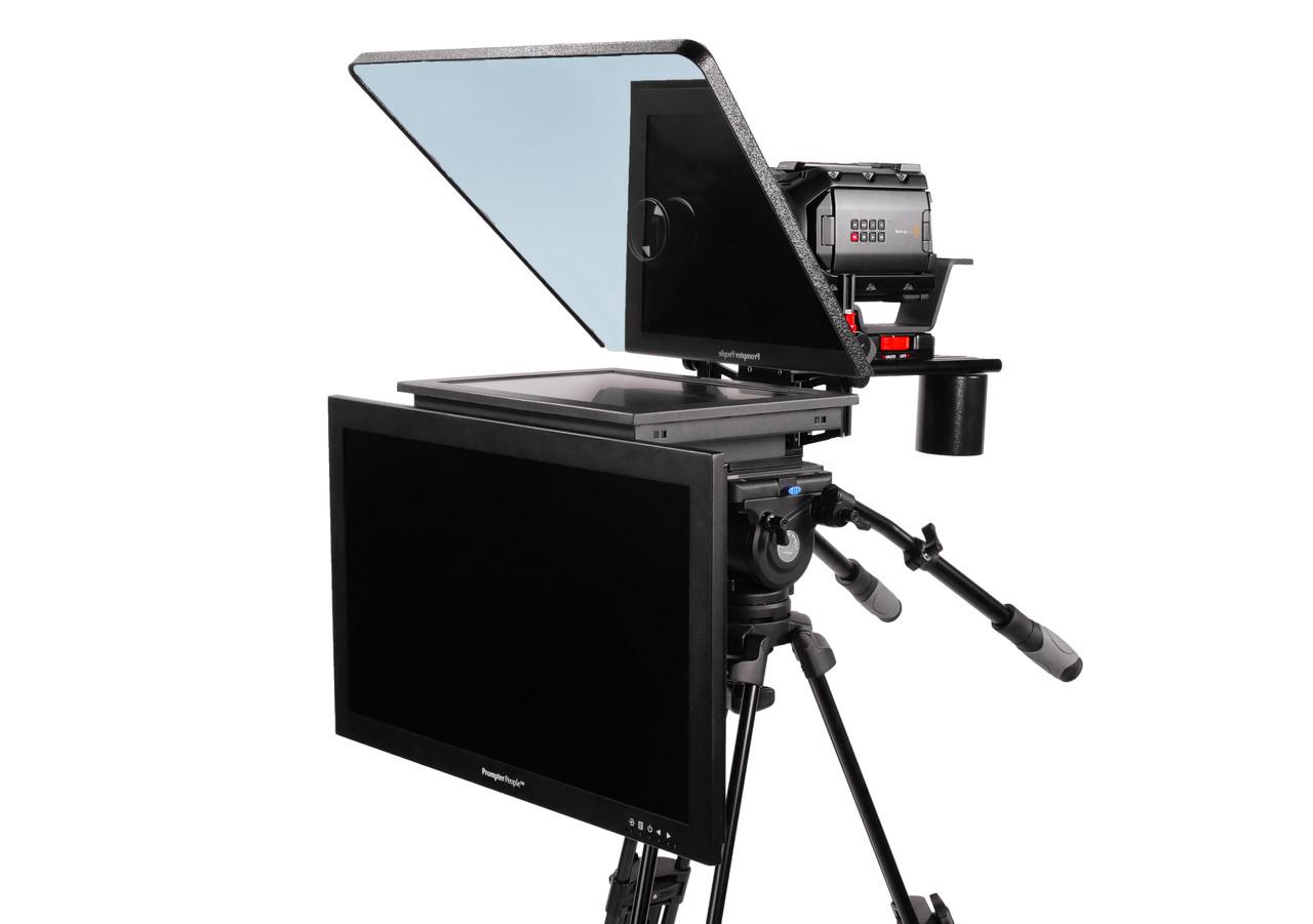 "ProLine Plus 15"" Studio (Trapezoidal) HighBright 1000 NIT HD-SDI Auto-Reversing with 24"" HighBright 1000 NIT HD-SDI Talent Monitor"