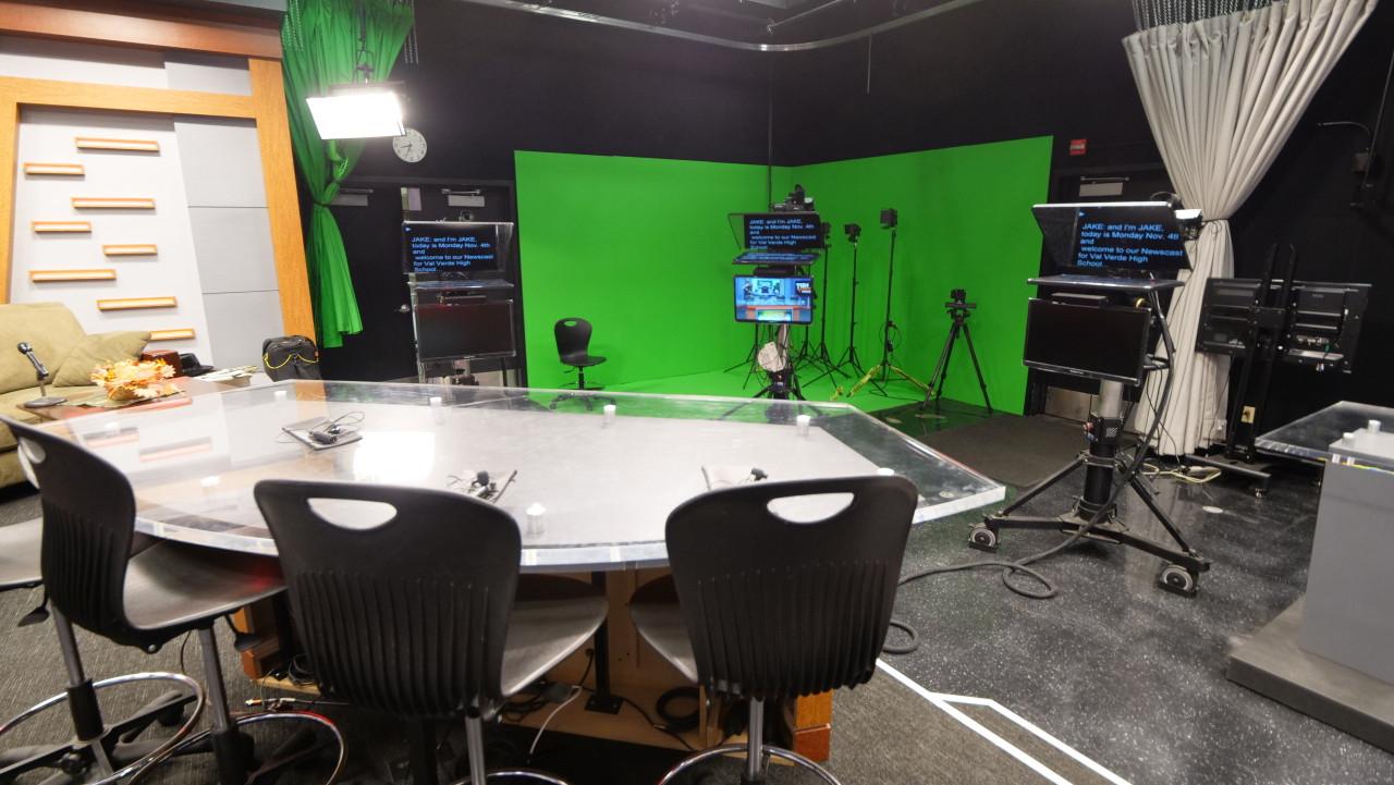 ProLine Plus Talent Monitor Model On Set with Val Verde