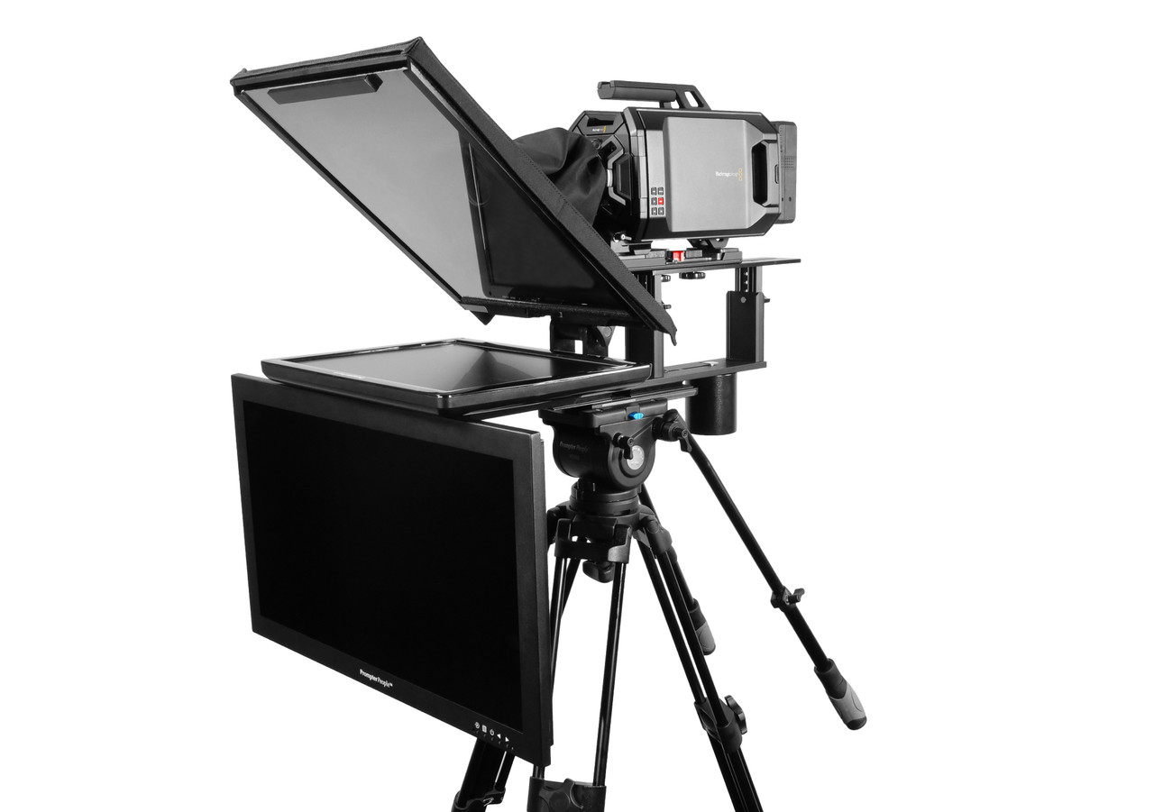 """Q Gear Pro 17"""" Reg with 24"""" HighBright Talent Monitor Teleprompter"""