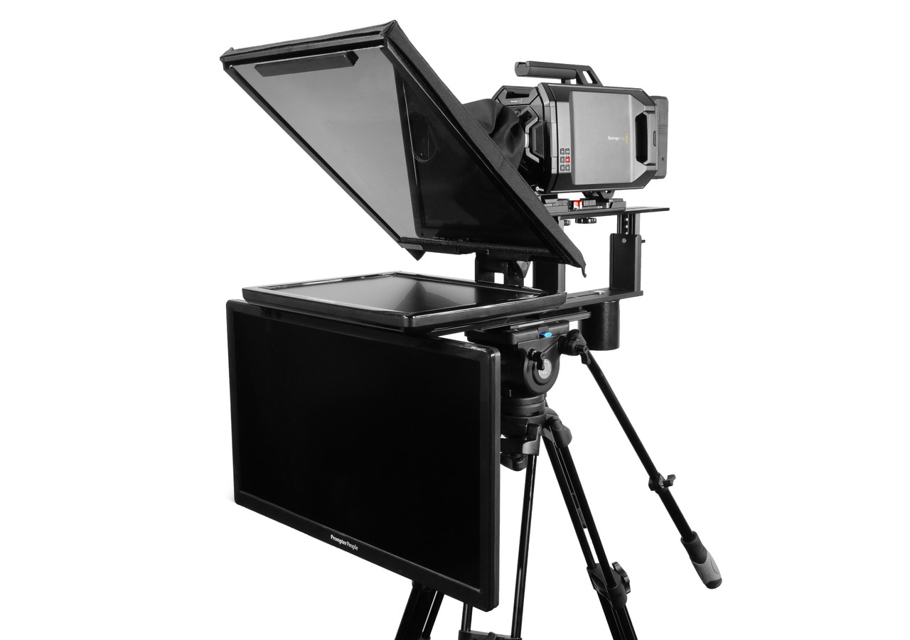 "Q Gear Pro 17"" Reg with 24"" REG Talent Monitor Teleprompter"