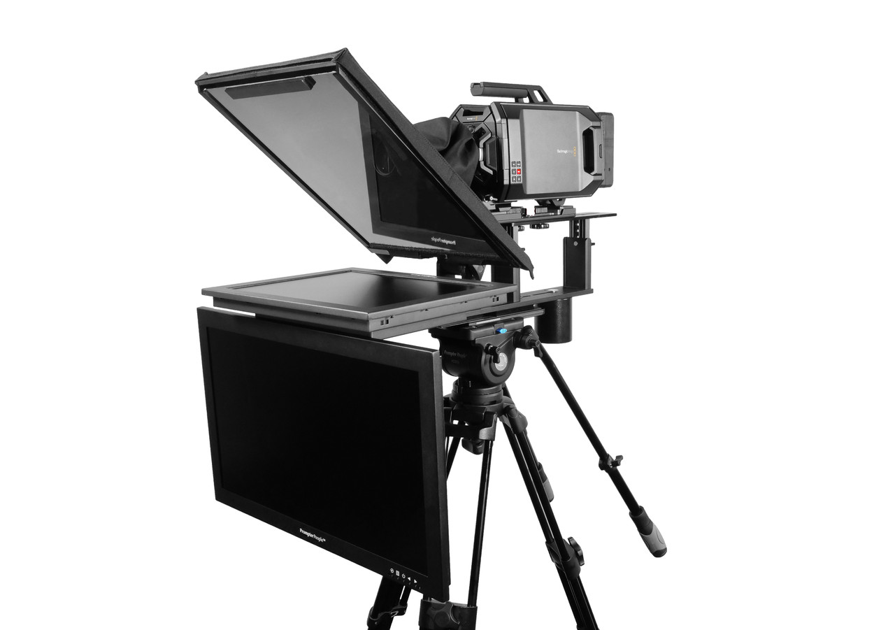 """Q Gear Pro 17"""" HighBright with 24"""" HighBright Talent Monitor Teleprompter"""