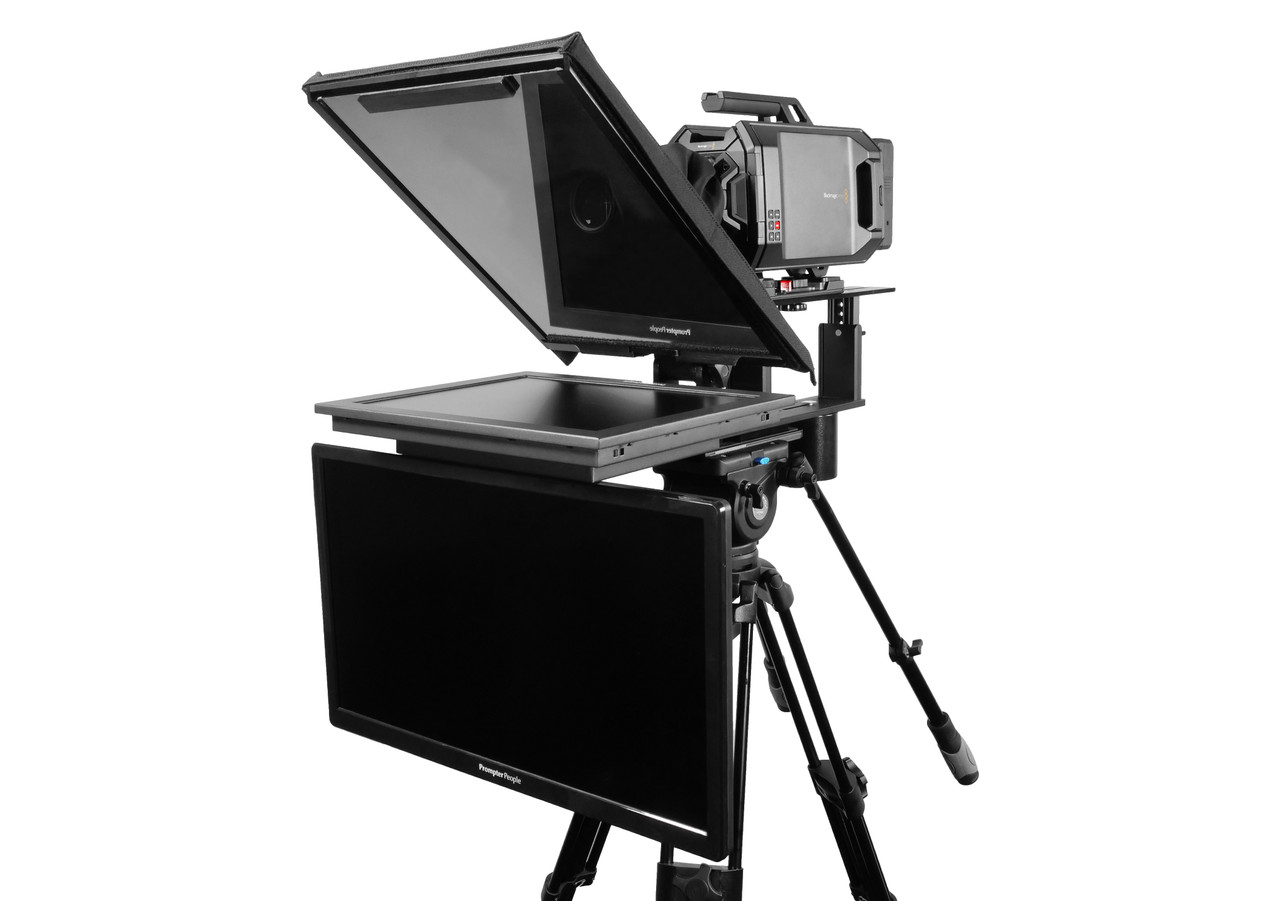 """Q Gear Pro 17"""" HighBright with 24"""" REG Talent Monitor Teleprompter"""