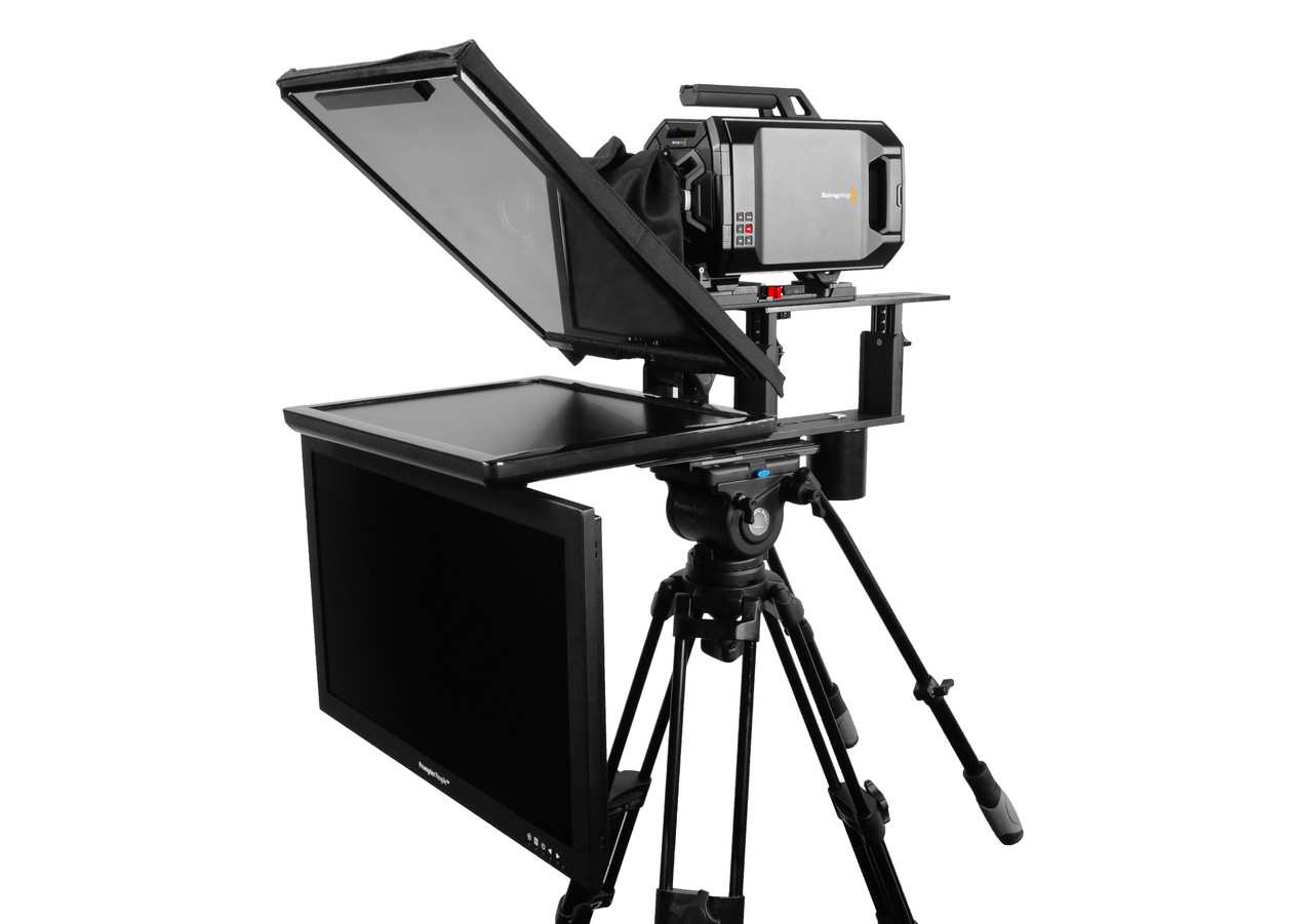 "Q Gear Pro 19"" REG with 24"" HighBright Talent Monitor Teleprompter"