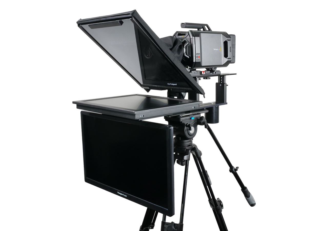 """Q Gear Pro 19"""" HighBright with 24"""" HighBright Talent Monitor Teleprompter"""