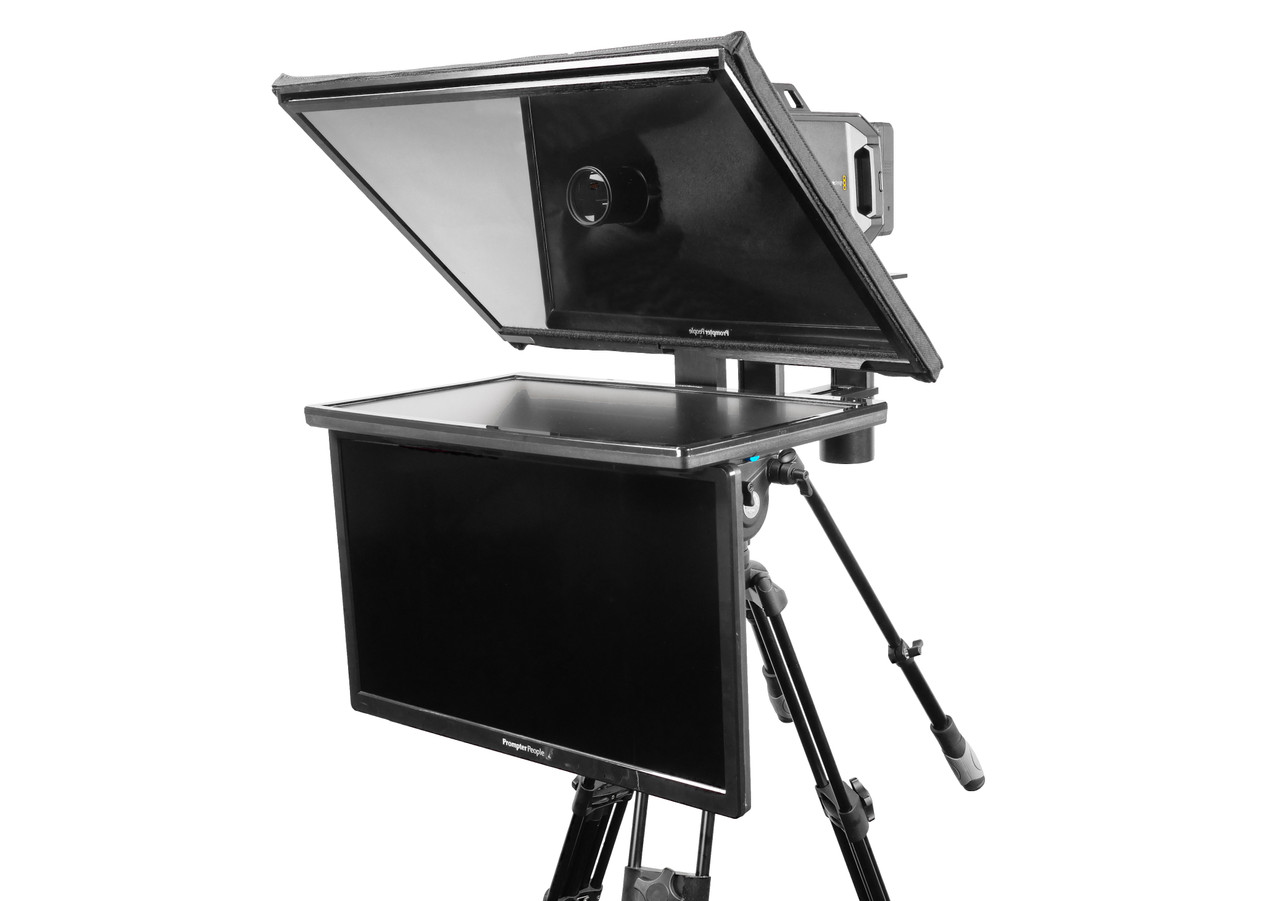 "Q Gear Pro 24"" REG with 24"" REG Talent Monitor Teleprompter"