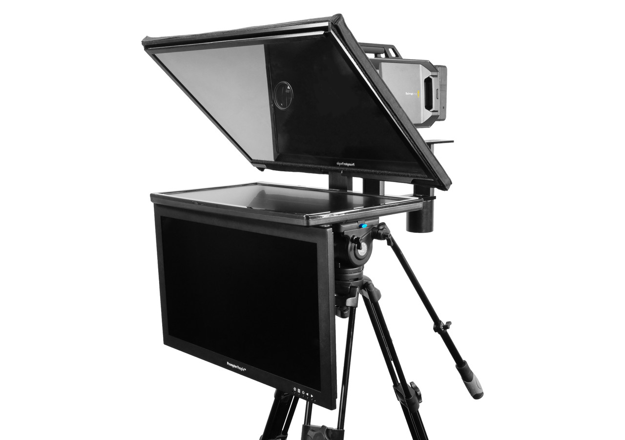 """Q Gear Pro 24"""" REG with 24"""" HighBright Talent Monitor Teleprompter"""