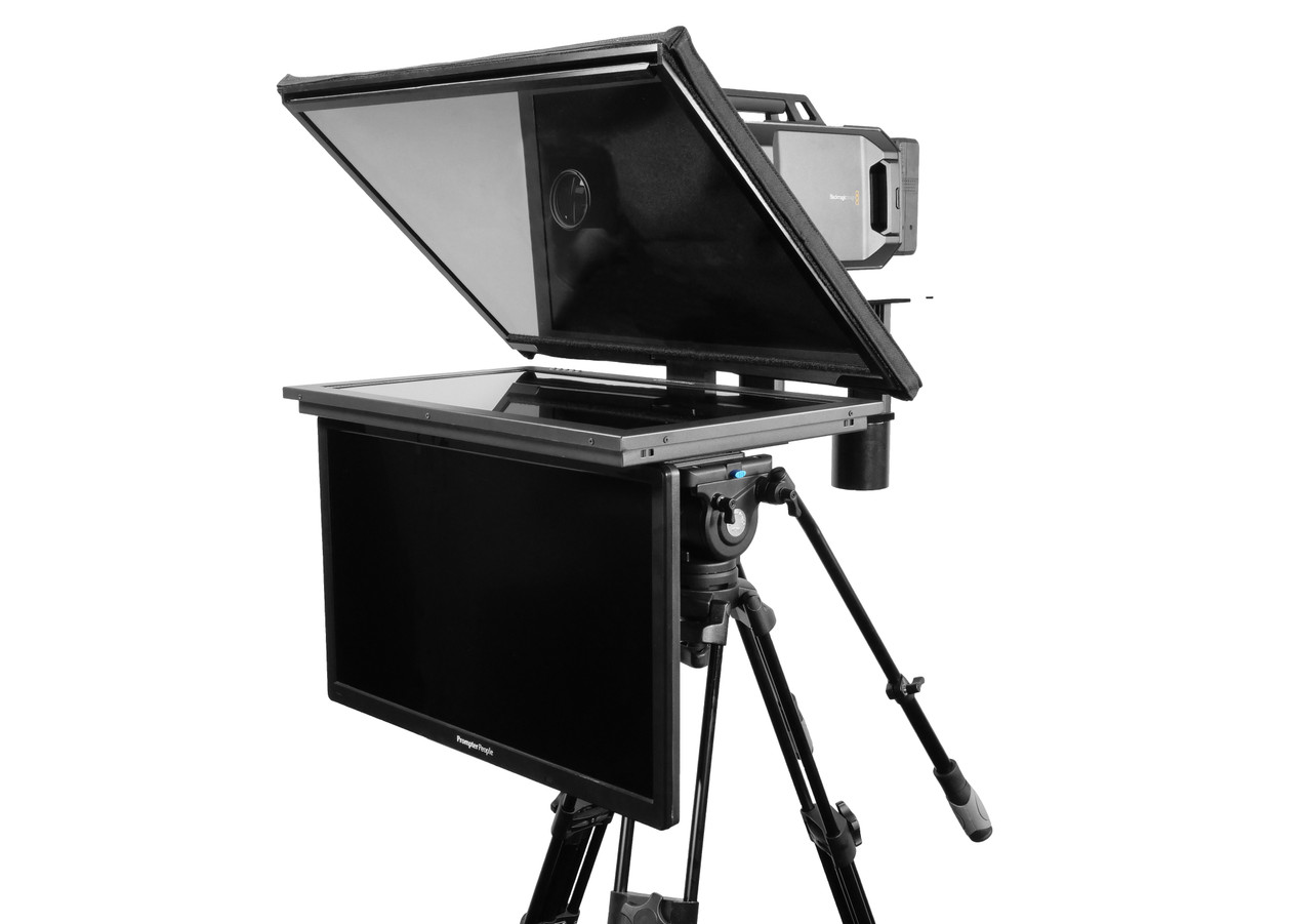 "Q Gear Pro 24"" HighBright with 24"" REG Talent Monitor Teleprompter"