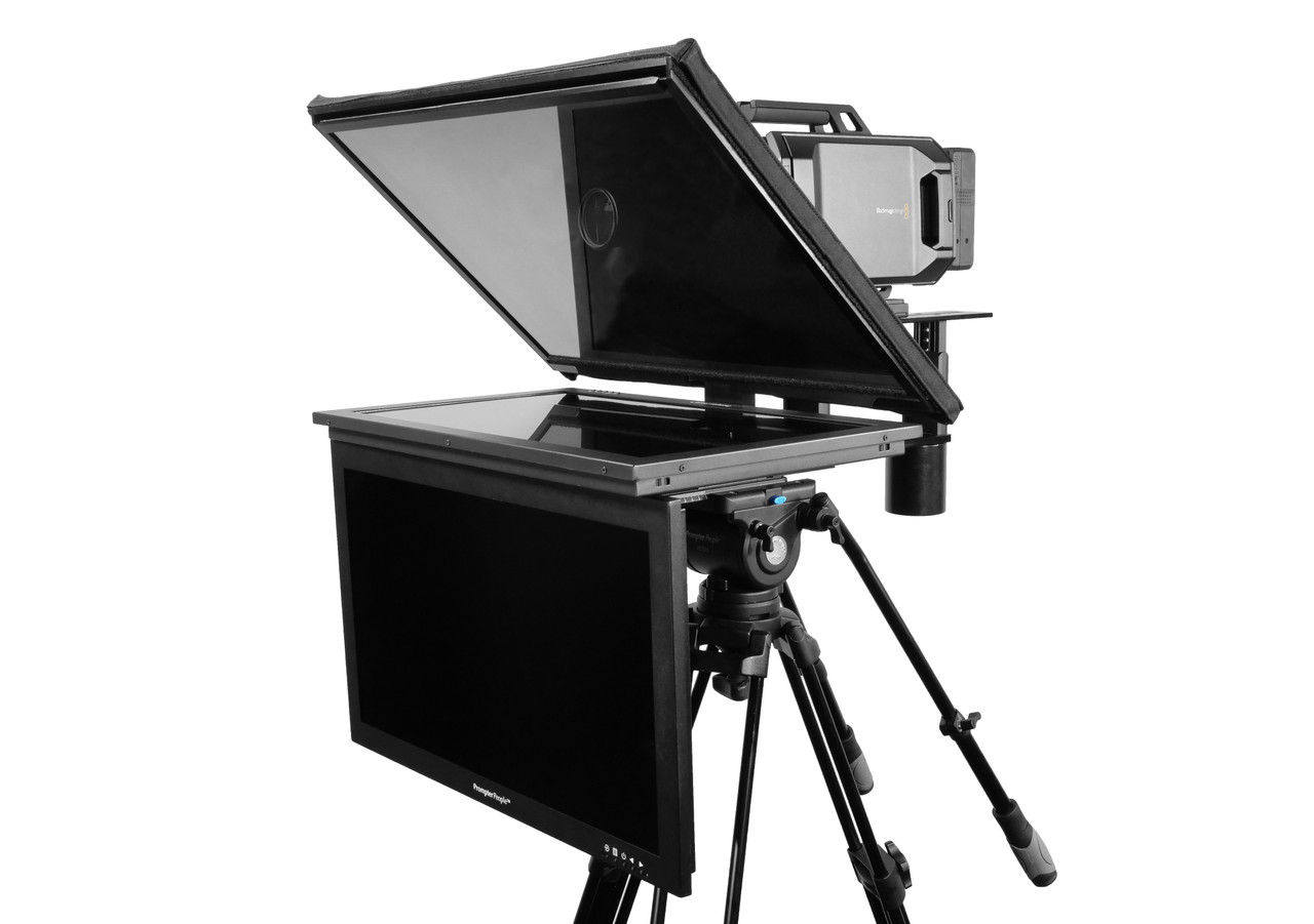 "Q Gear Pro 24"" HighBright with 24"" HighBright Talent Monitor Teleprompter"