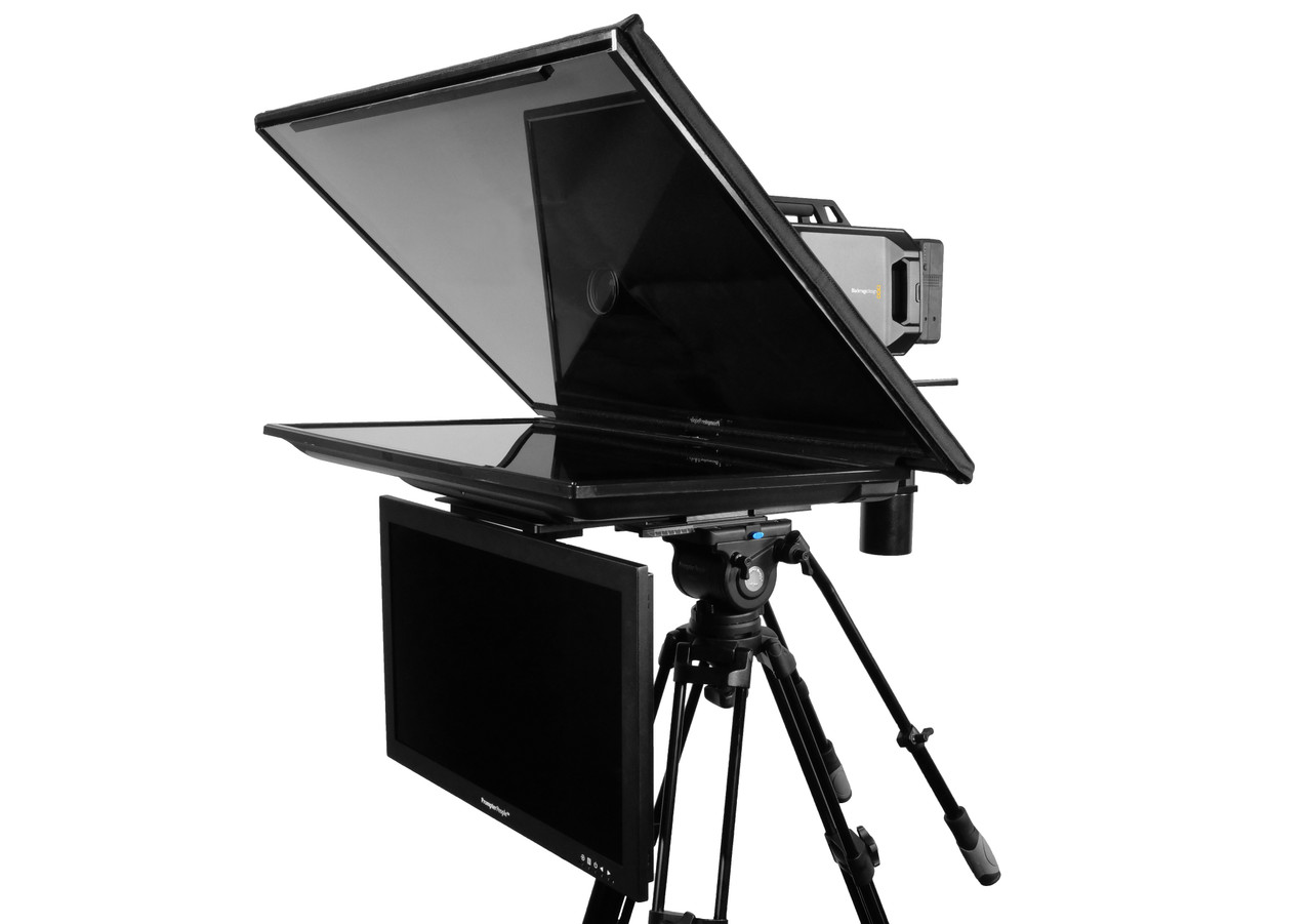 """Q Gear Pro 32"""" REG with 24"""" HighBright Talent Monitor Teleprompter"""