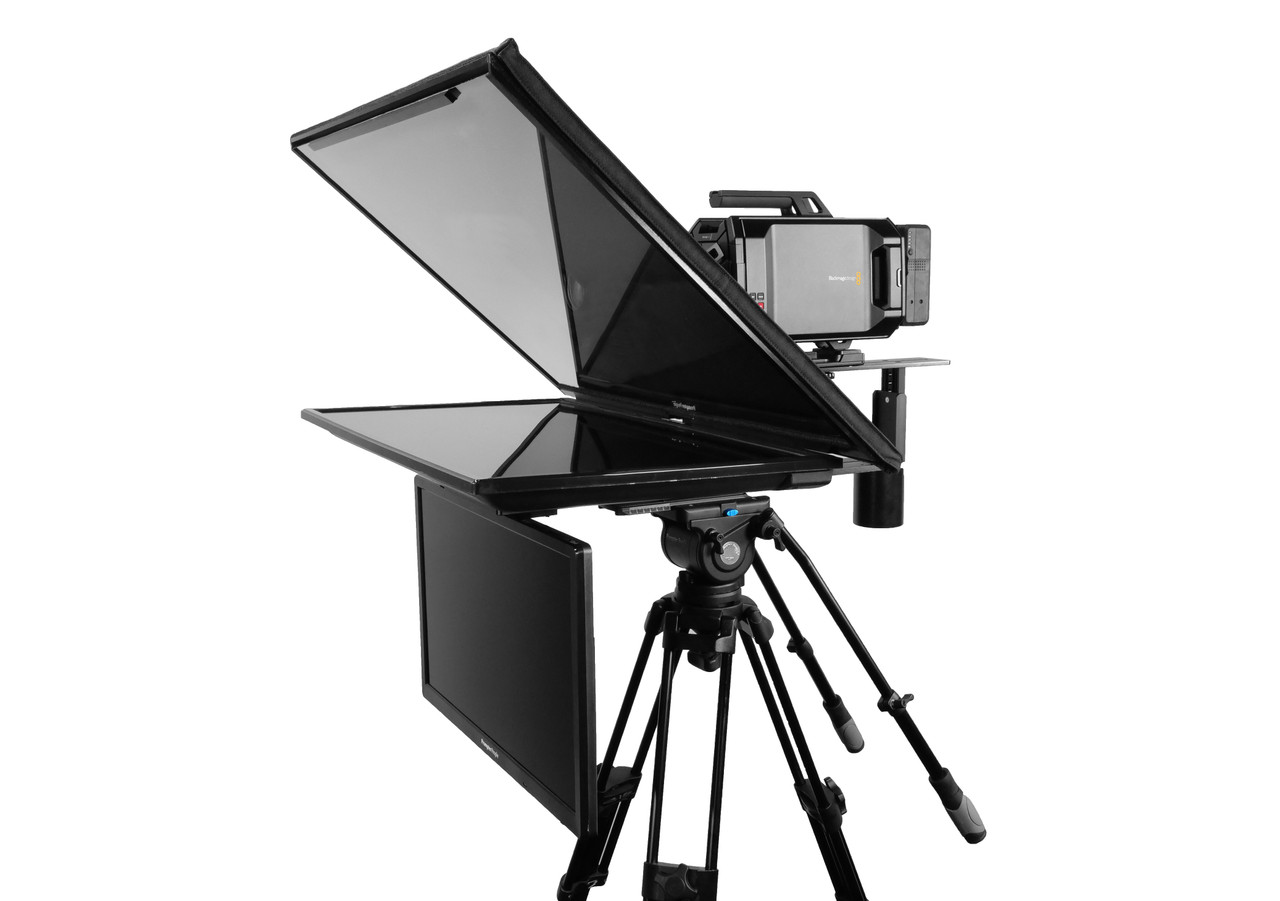 "Q Gear Pro 32"" REG with 24"" REG Talent Monitor Teleprompter"
