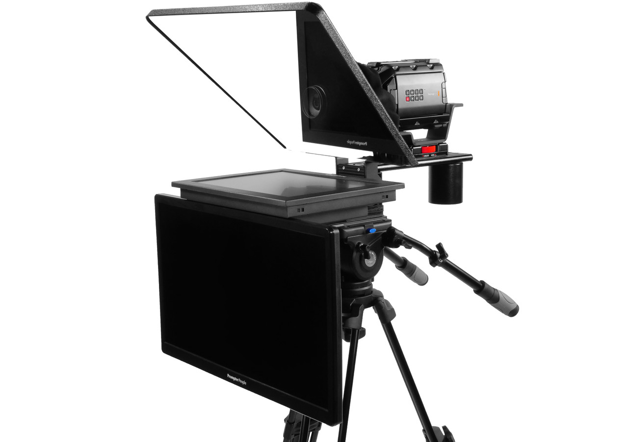 "Flex Plus 17"" Regular Monitor Studio (Trapezoidal) Glass with 24"" HighBright HD-SDI Monitor Teleprompter - Talent Monitor Model"