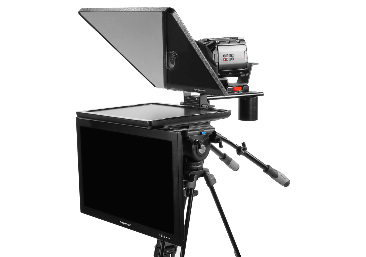 "Flex Plus 19"" Regular Monitor Studio (Trapezoidal) Glass with 24"" HighBright HD-SDI Monitor Teleprompter - Talent Monitor Model"