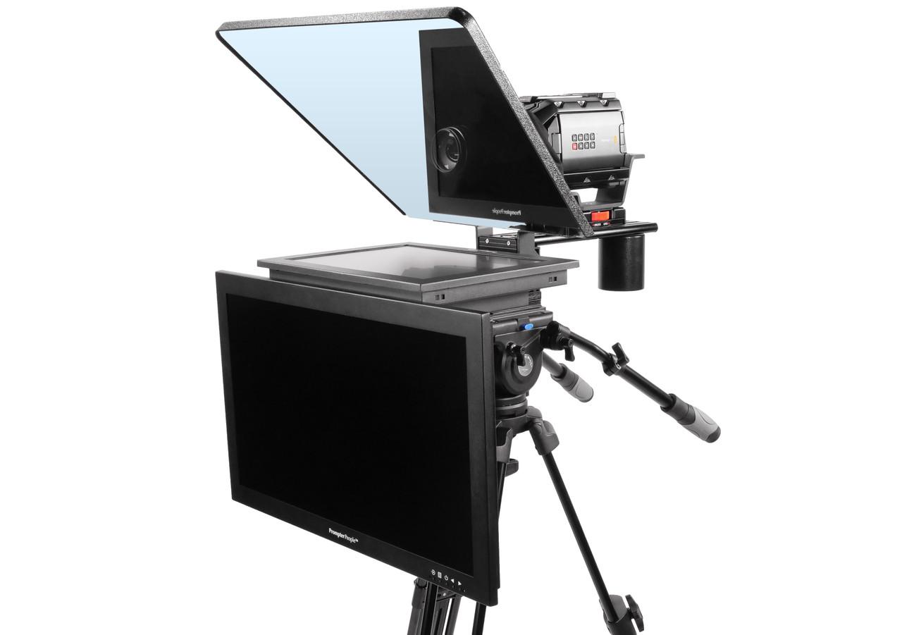 "Flex Plus 17"" HighBright HD-SDI  Monitor Studio (Trapezoidal) Glass with 24"" HighBright HD-SDI Monitor Teleprompter - Talent Monitor Model"