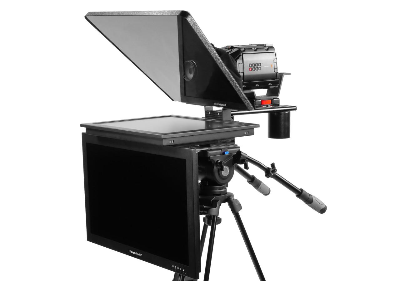"Flex Plus 19"" HighBright HD-SDI  Monitor Studio (Trapezoidal) Glass with 24"" HighBright HD-SDI Monitor Teleprompter - Talent Monitor Model"