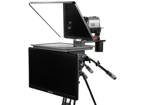 "Flex Plus 19"" HighBright HD-SDI  Monitor Studio (Trapezoidal) Glass with 24""  Regular HDMI Monitor Teleprompter - Talent Monitor Model"
