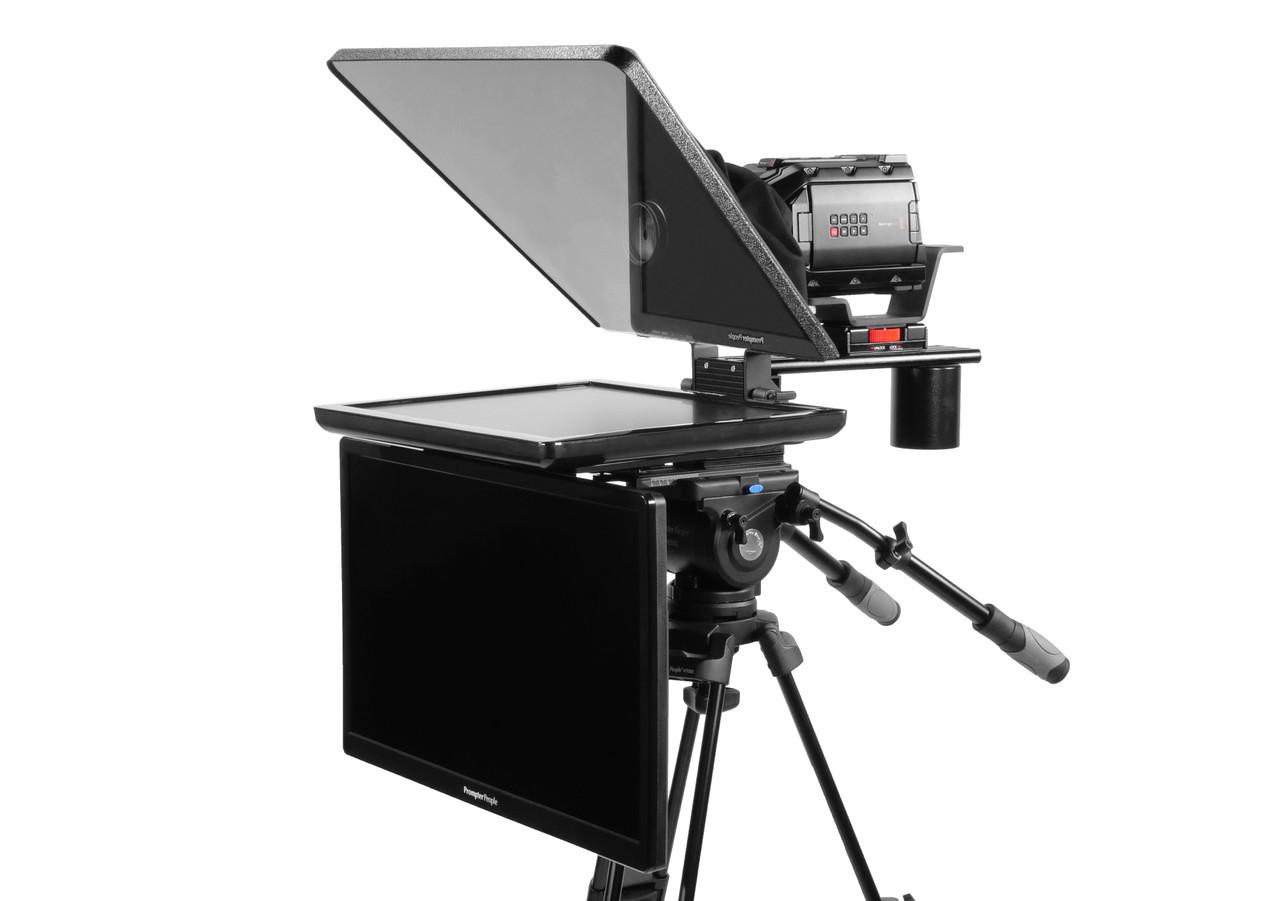"Flex Plus 19""Regular HDMI Monitor Studio (Trapezoidal) Glass with 24""  Regular HDMI Monitor Teleprompter - Talent Monitor Model"