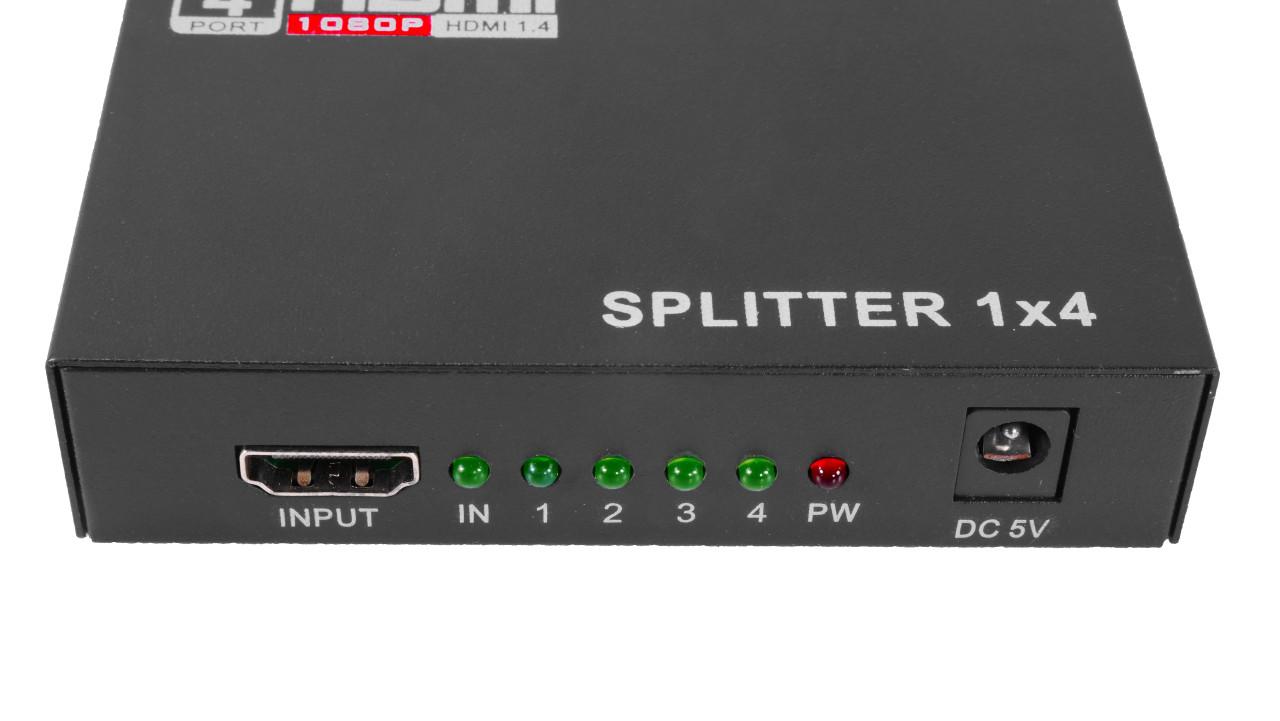 Quad Split HDMI Signal Splitter Box input