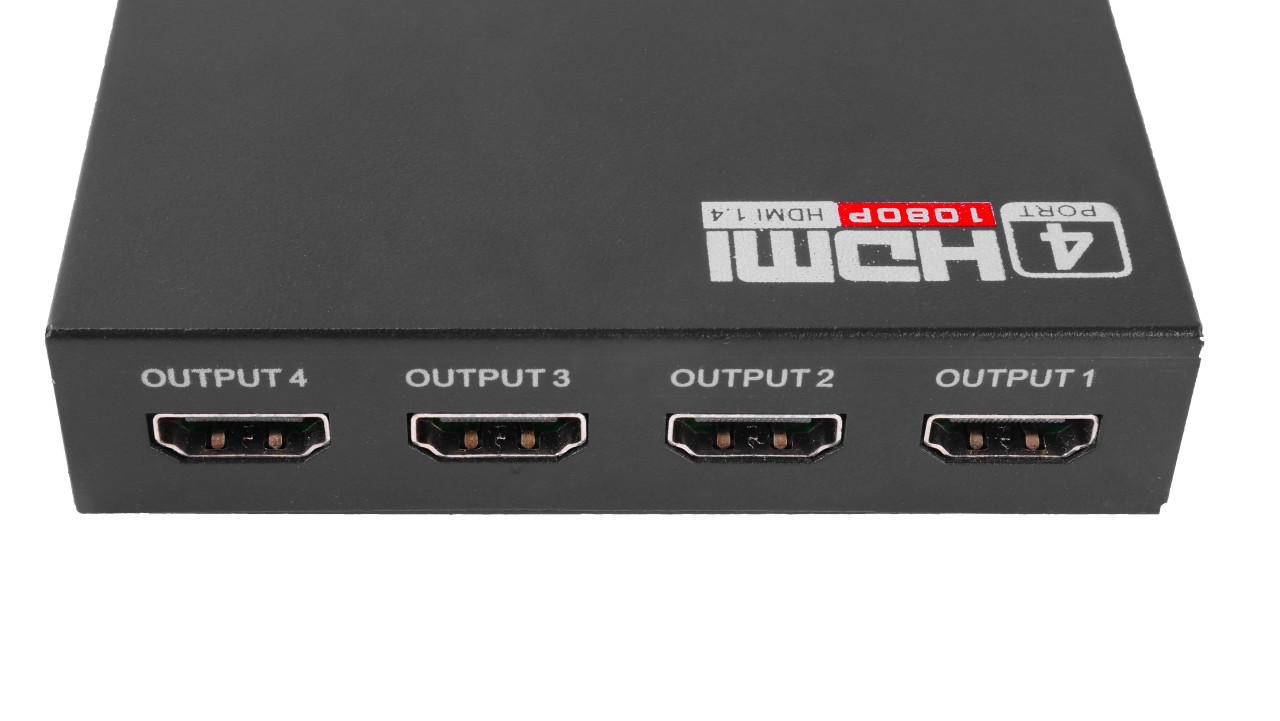 Quad Split HDMI Signal Splitter Box 4 x HDMI Exports