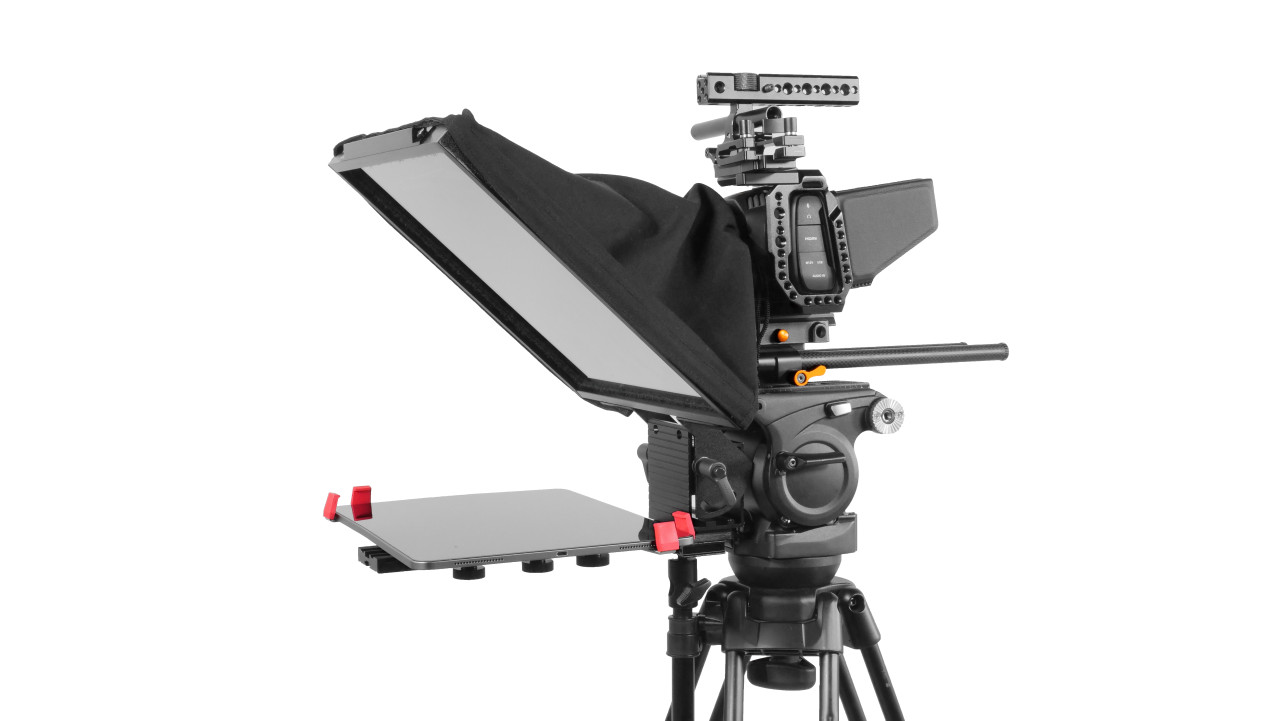 Prompter Pal Pro Tablet, Surface Pro, iPad Pro Affordable and Professional Teleprompter Freestanding