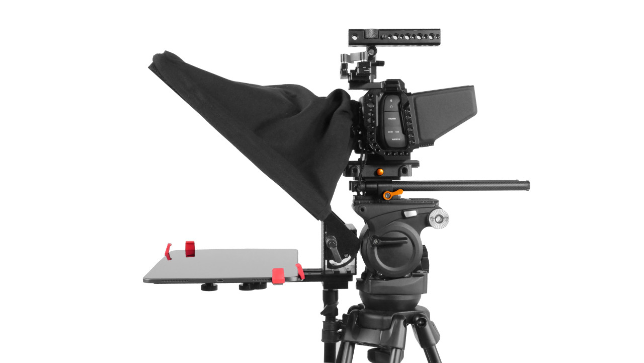 Prompter Pal Pro Tablet, Surface Pro, iPad Pro Affordable and Professional Teleprompter Freestanding Side