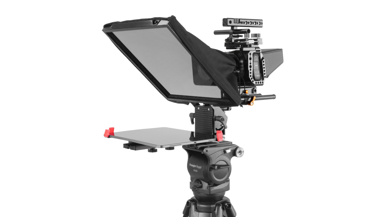 Prompter Pal Pro Tablet, Surface Pro, iPad Pro Affordable and Professional Teleprompter 15MM Model - Angled