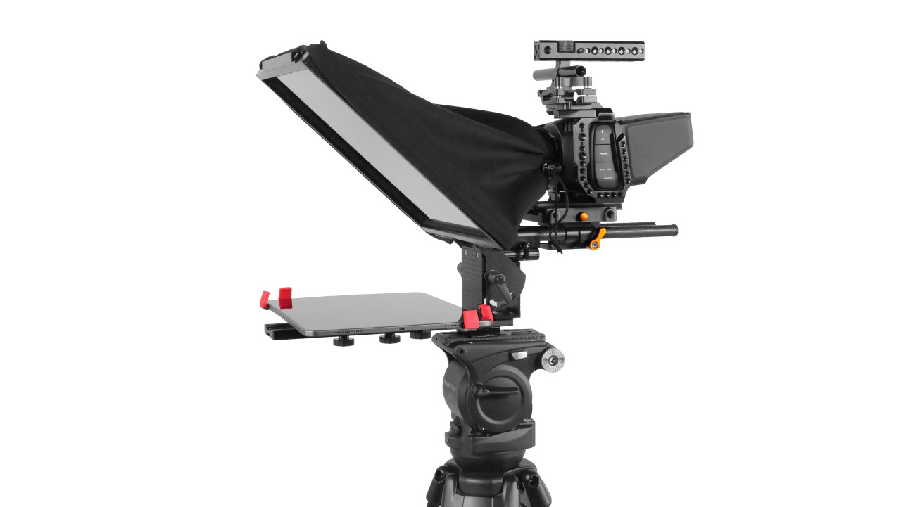 Prompter Pal Pro Tablet, Surface Pro, iPad Pro Affordable and Professional Teleprompter 15MM Model - Side