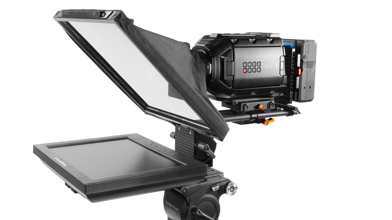 Prompter Pal Pro Regular Monitor HDMI 400 NIT AutoReversing Affordable and Professional Teleprompter 15MM Model - Side