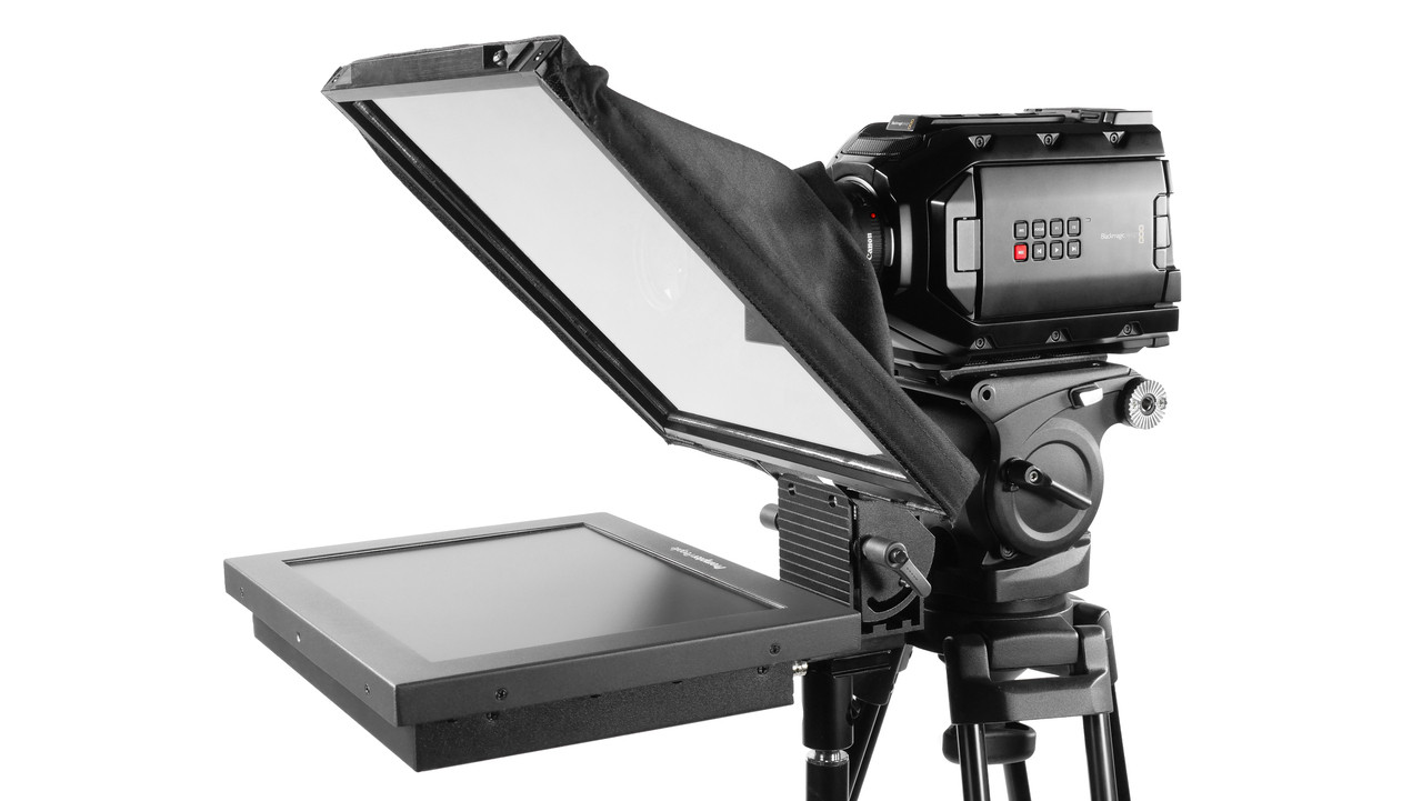 Prompter Pal Pro HighBright Monitor HD-SDI 1000 NIT AutoReversing Affordable and Professional Teleprompter Freestanding Model - Side