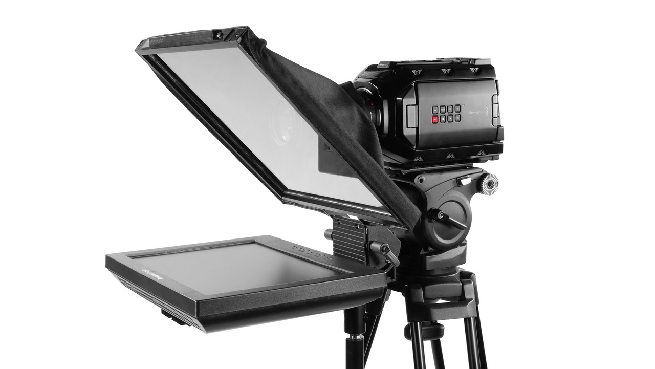 Prompter Pal Pro Regular Monitor HDMI 400 NIT AutoReversing Affordable and Professional Teleprompter Freestanding Model - Side