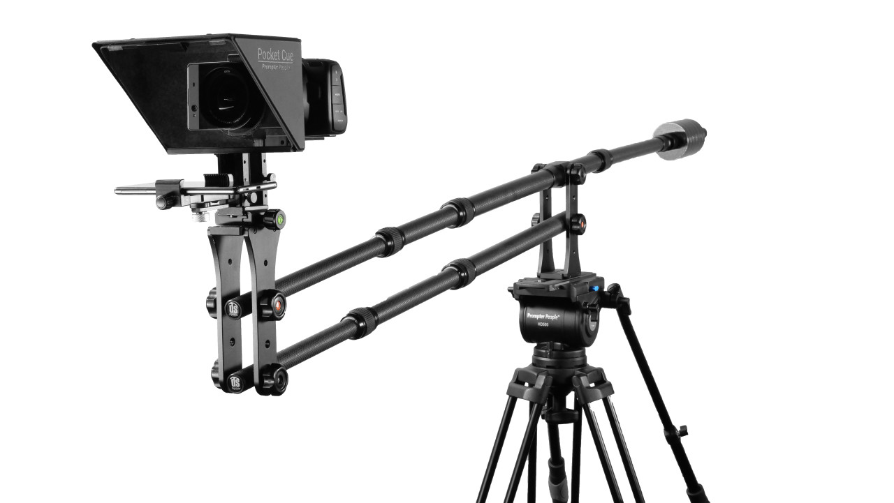 Prompter People Pocket Cue Smart Phone, iPhone, Android Phone Teleprompter - On Jib