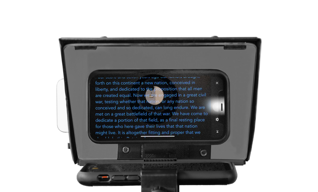Prompter People Pocket Cue Smart Phone, iPhone, Android Phone Teleprompter - Face