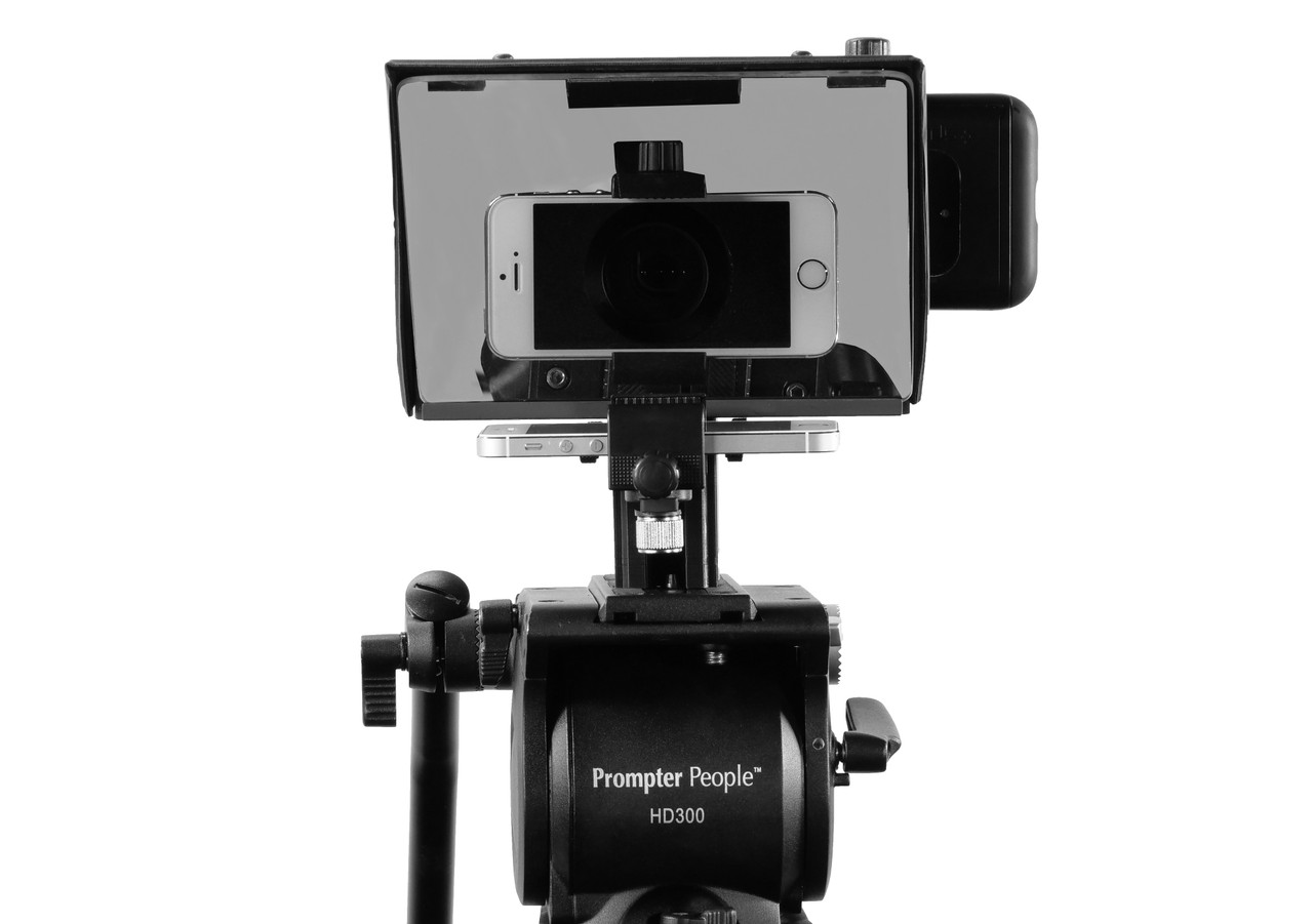 Prompter People Pocket Cue Smart Phone, iPhone, Android Phone Teleprompter - Smart Phone Face