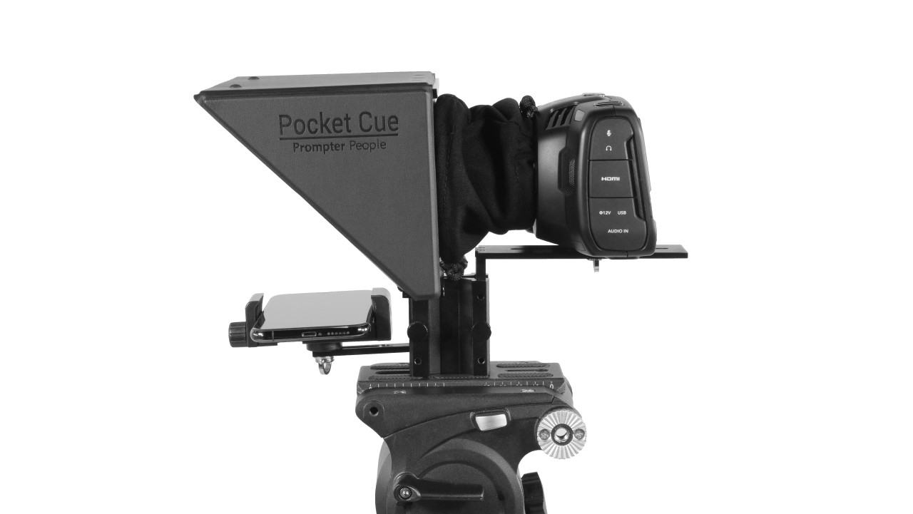 Prompter People Pocket Cue Smart Phone, iPhone, Android Phone Teleprompter - Side