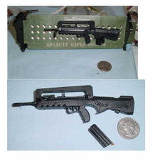 Miniature 1/6th Scale Fama Assualt Rifle w/stand