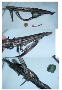 Miniature 1/6 WW2 German MG42 Machine Gun